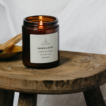 Woodsmoke, Patchouli And Balsam Scented Candle