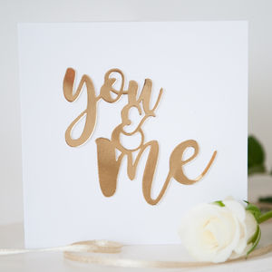 Love Card 'You And Me' - original valentine's cards