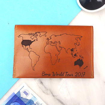 Tan brown graduation / gap year passport cover