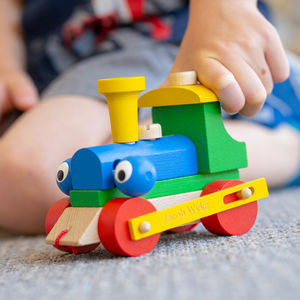 Personalised Wooden Train Take Apart And Pull Along Toy - gifts for babies