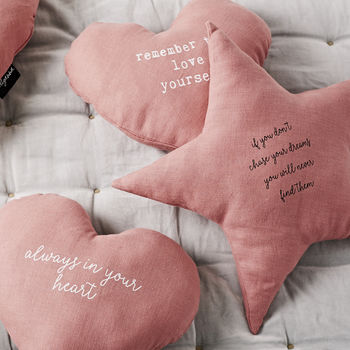 'Chase Your Stars' Linen Cushion