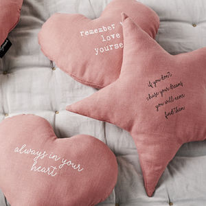 'Chase Your Stars' Linen Cushion - view all new