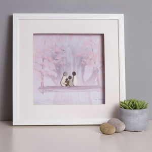 Personalised 'We Are Family' Pebble Picture - still life