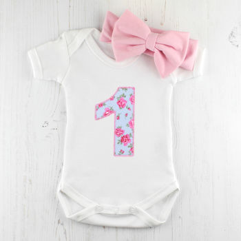 Baby Girl First Birthday Baby Grow Outfit