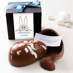 Easter Bunny Chocolate Egg With Surprise Message - easter eggs