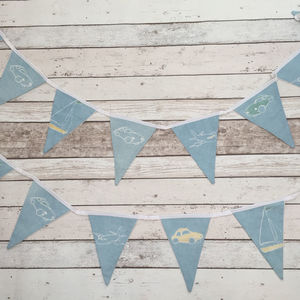 Planes, Boats And Cars Bunting