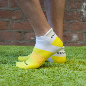 Men's Yellow Ankle Sports Safe Land Sock - underwear & socks