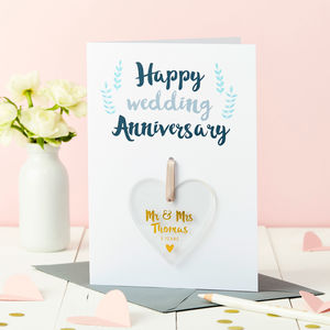 Personalised Anniversary Foiled Keepsake Card