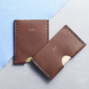 Personalised Men's Leather Card Holder - wallets & money clips