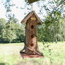 Personalised Natural Wooden Hanging Bird House