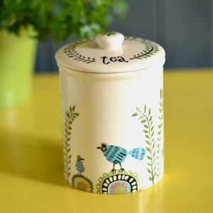 Birdlife Storage Jar