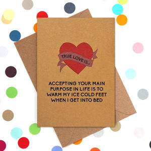 Funny Valentine's Day Card: Ice Cold Feet