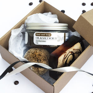 Coffee Lovers Bath And Body Gift Box - bath & shower