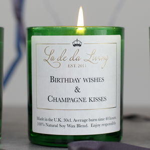 Luxury Birthday Champagne Candle - candles & home fragrance