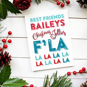 Bailey's Funny Christmas Card Individual Or Pack Of 12