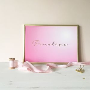 Ombre Personalised Name Print