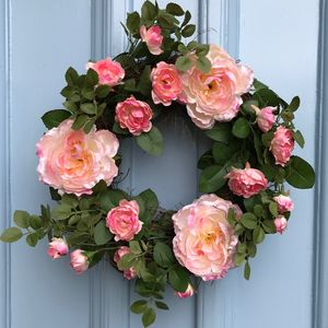 Flower Wreath Pink - room decorations