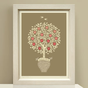 Family Gift 'Personalised Family Tree Print'