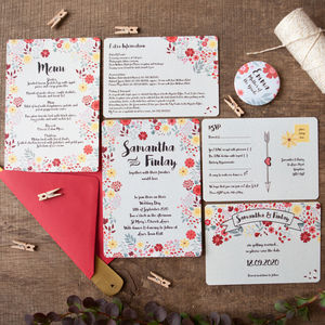 Autumn Romance Wedding Stationery - invitations
