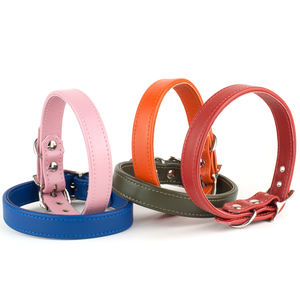 Handmade Italian Calf Leather Dog Collar - pet collars