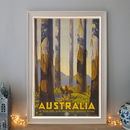 Vintage Australia Tall Trees Art Deco Travel Poster