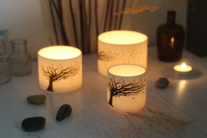 Blowing Tree Porcelain Ceramic Candle Holder - home accessories