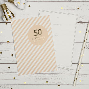 50th Birthday Party Invites - adults party invitations