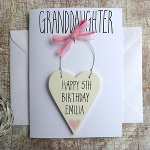 Granddaughter Personalised Birthday Card - birthday cards