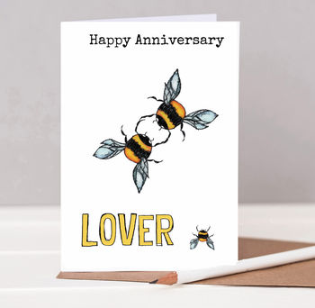 Bees Anniversary Card