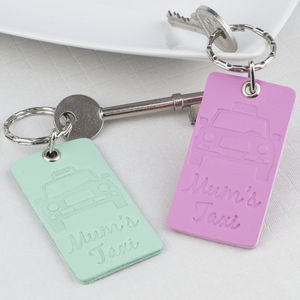 Mum Taxi Leather Keyring