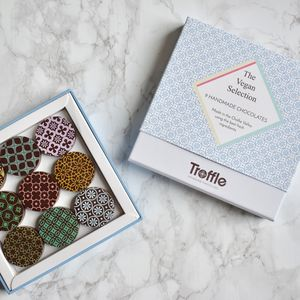 Troffle Vegan Chocolates Double Box - gifts for vegetarians