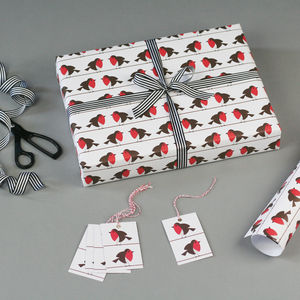 Robin Christmas Wrapping Paper - cards & wrap
