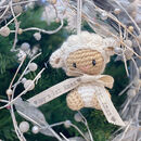 Barbra Lamb Knitted Hanging Decoration Personalised