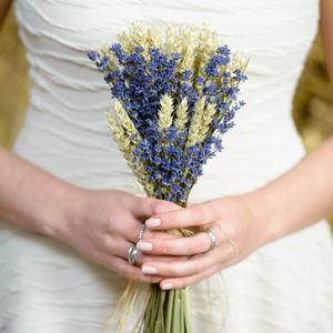 Wheat And Lavender Posy