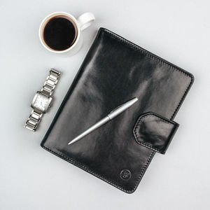 A5 Luxury Leather Notepad. ' The Mozzano' - gifts for him
