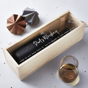 Whiskey Personalised Bottle Box - top sale wedding gifts