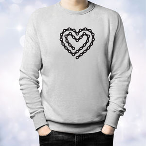 'Bike Chain Heart' Bike Lovers Sweatshirt