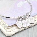 Personalised Sterling Silver Loved Ones Heart Bangle