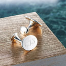 Solid Silver Oval Cufflinks