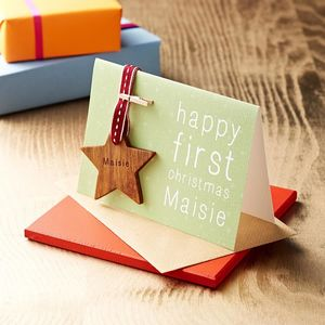 Personalised First Christmas Keepsake Card - personalised cards