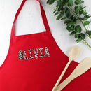 Personalised Leopard Print Ladies Apron