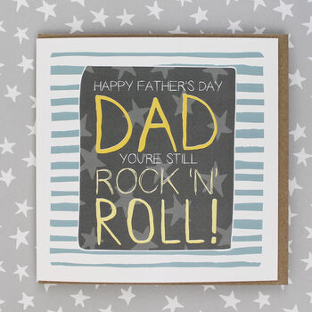 Father's Day Card Rock N Roll