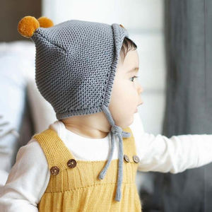 Pom Pom Knit Baby Hat - children's hats