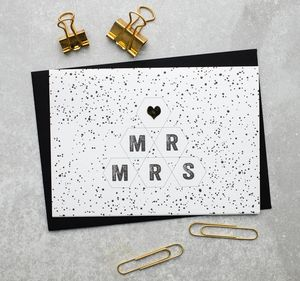 Mr And Mrs Night Sky Card