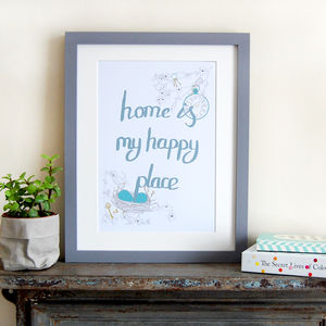 Home Is My Happy Place, Bedroom Print - family & home