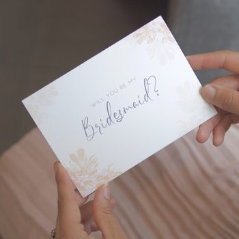 Will You Be My Bridesmaid Pink Bridesmaid Proposal Card