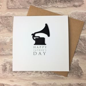 Gramophone Father's Day Card - father's day cards