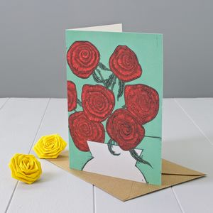 Red Roses Greeting Card - birthday cards