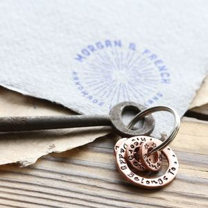 This Daddy Belongs To Personalised Copper Keyring