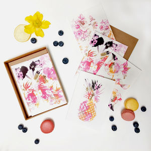 'Tropical' Notecard Set - notelets & writing paper